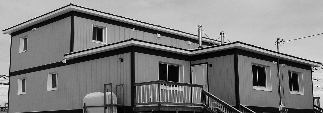 Iqaluit House, SIP, Cold Climate Housing, Arctic Duplex