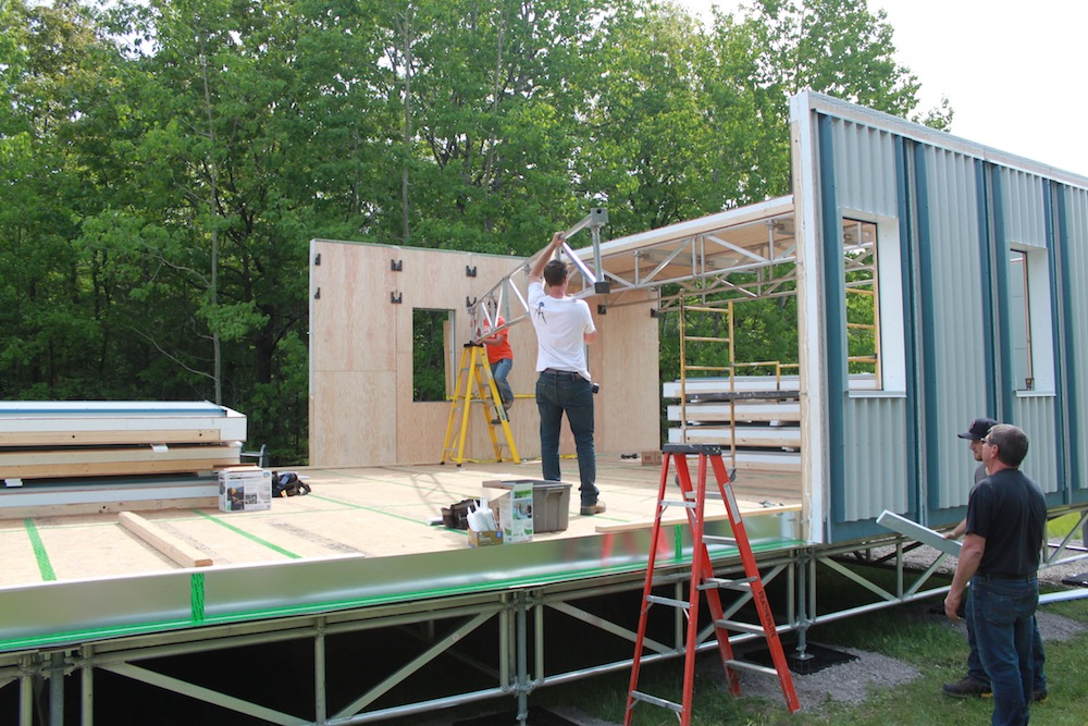 Modular Construction, Aluminum Trusses, Pre-finished Panels, Arctic Housing