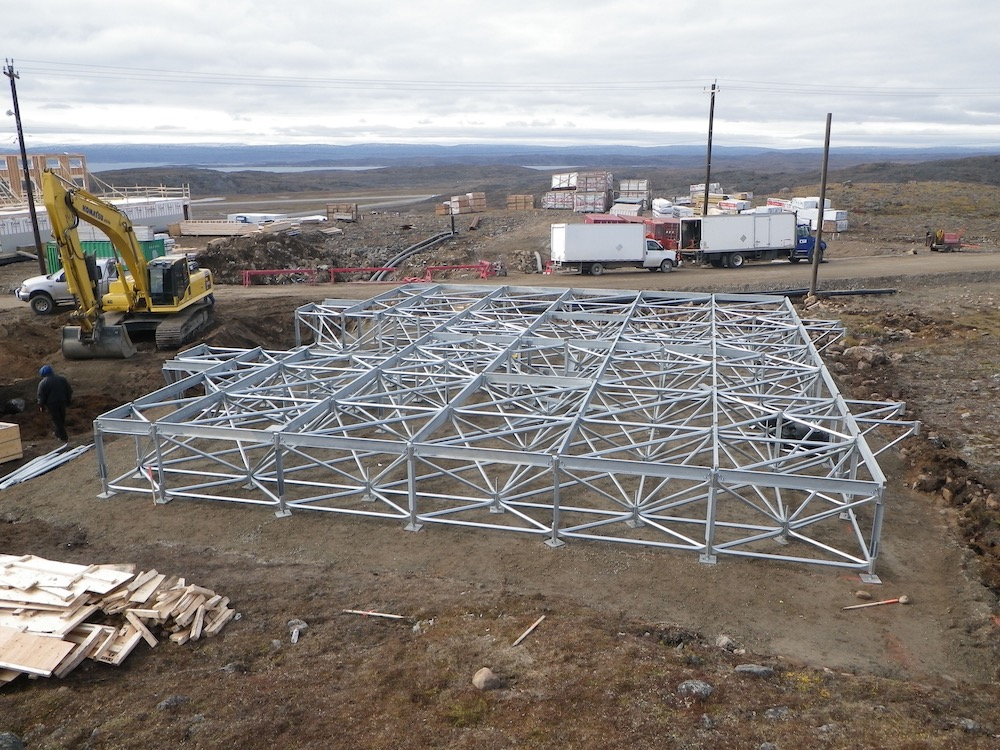 Space Frame Foundation, Triodetic, Multipoint, Iqaluit, DAC International