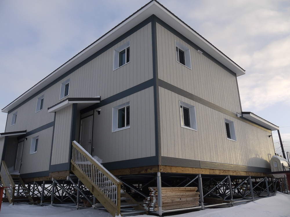 SIP, Panelized, Arctic Housing, Multi-point, Triodetic, Arctic Mult-Family, Duplex